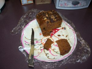 Don't forget the homemade banana bread!