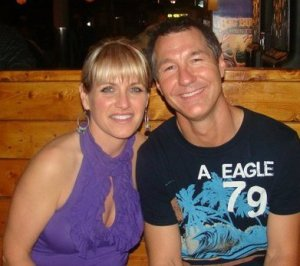 Jim backbone, his wife Denise.