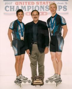 US National Inline Master 2 Man Champs record holder 2008 with Jon Elliott and coach Joe Cotter.
