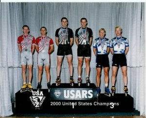 USARS 2000 with relay partner and frequent divisions challenger Norm Kirby.